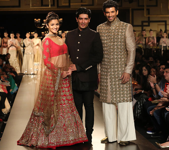 Alia Bhat, Manish Malhotra and Aditya Roy Kapur