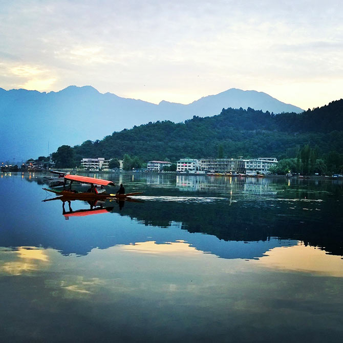 Reflections at the Dal Lake, Srinagar