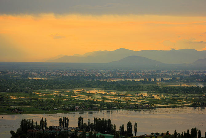 View of Srinagar from Pari Mahal, Kashmir