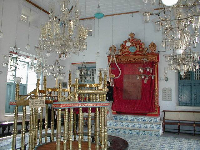 The interiors of Paradesi Synagogue