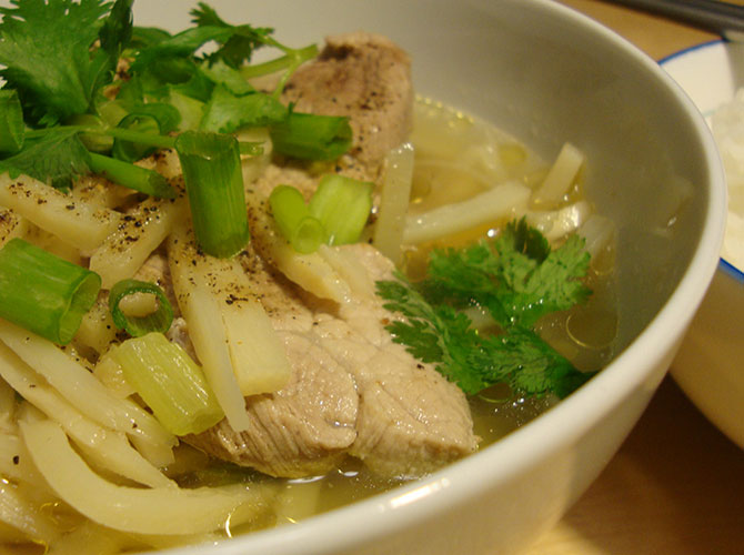 Pork with bamboo shoots