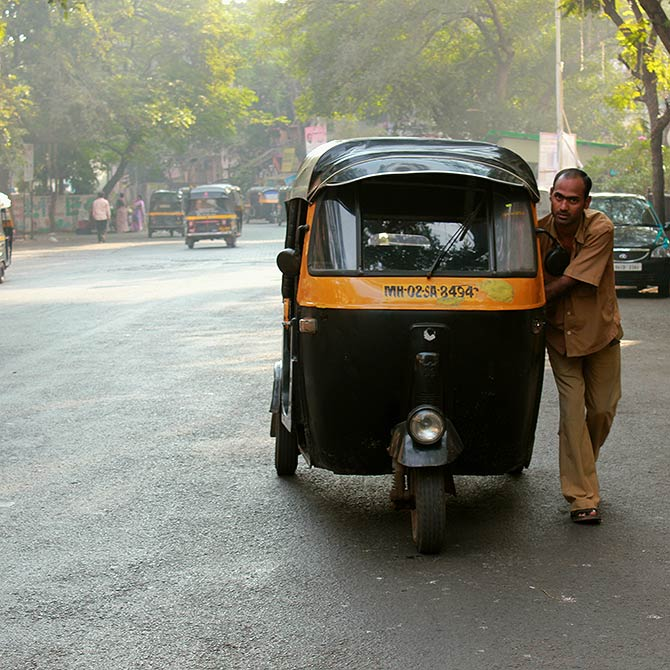 Mumbai's auto rickshaws are often the best way to get around the suburbs.