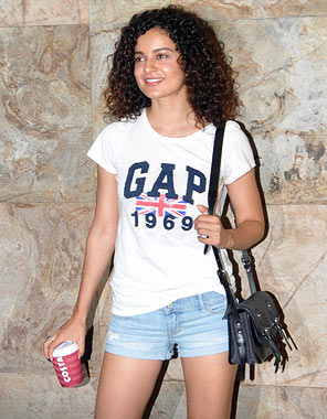 How to wear the white t-shirt 101: Kangana Ranaut embraces summer in style.