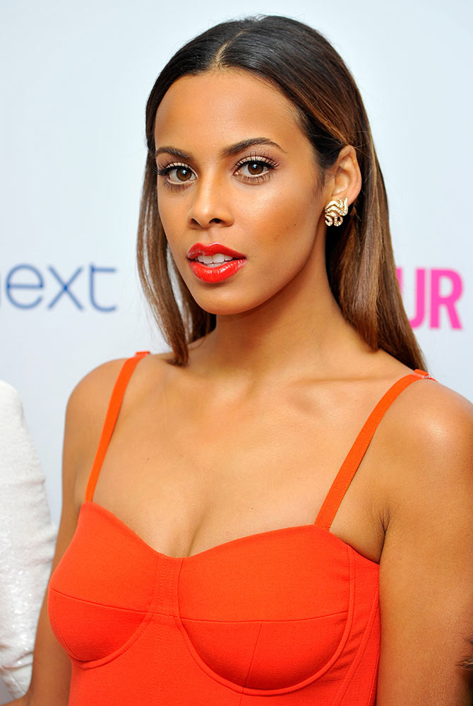 Rochelle Humes of The Saturdays attends the Glamour Women of the Year Awards at Berkeley Square Gardens on June 3, 2014 in London, England. She is wearing a dress by Jasper Conran.