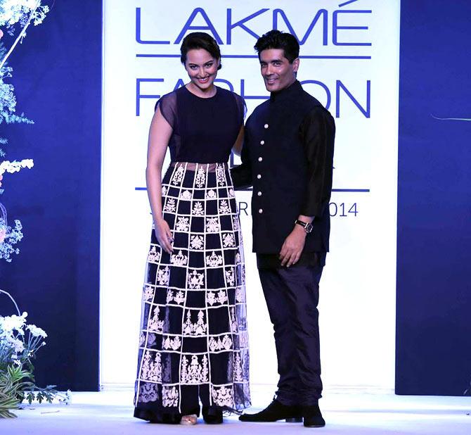 Actress Sonakshi Sinha walked the ramp for ace designer Manish Malhotra as he opened the Lakme Fashion Week Summer/Resort 2014 in Mumbai.