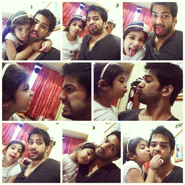 Amit Tandon with his daughter Jiyana