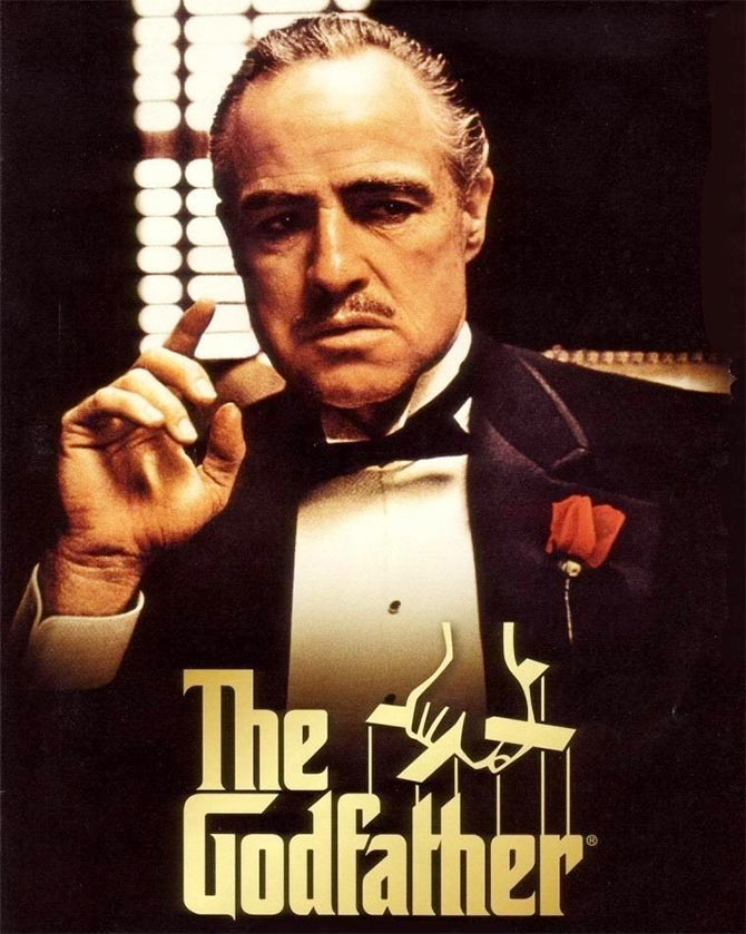 A film poster of The Godfather