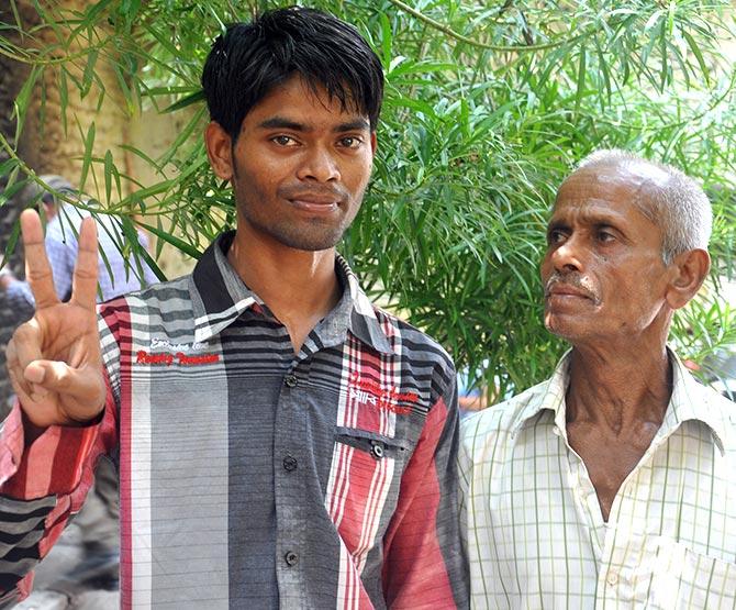 Sanjeet Kumar with his father Ram Bhajan
