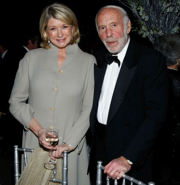 Martha Stewart and James Simons, chairman and founder of Renaissance Technologies.