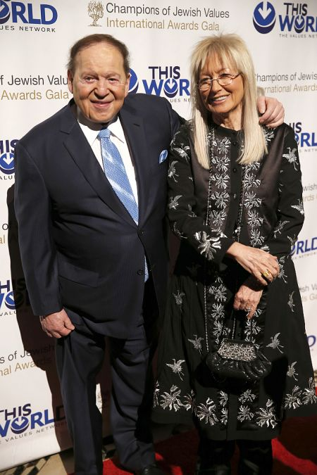Las Vegas gaming tycoon Sheldon Adelson and his wife Miriam Adelson.
