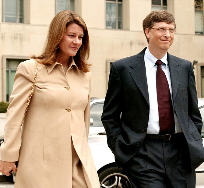 Microsoft Corp Chairman Bill Gates and his wife Melinda.