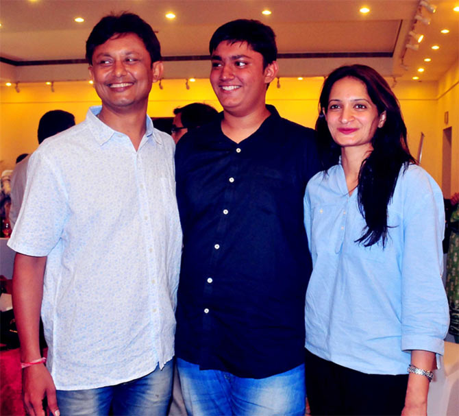 Chitraang with his parents, Manish and mother Sonali