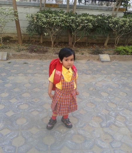 First day at school: Tiny tots in uniform
