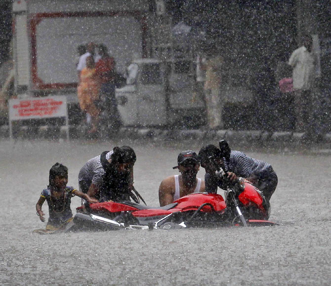 4. You report to work in knee-deep water every monsoon