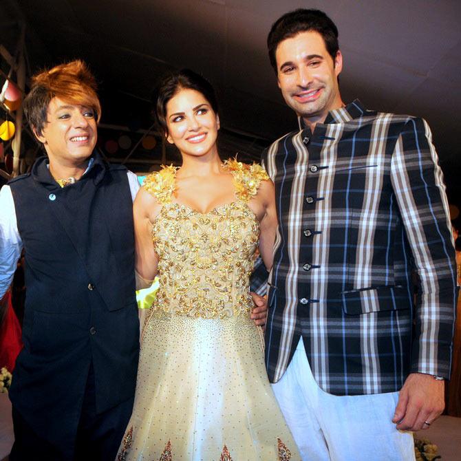 Rohhit Verma, Sunny Leone and Daniel Weber