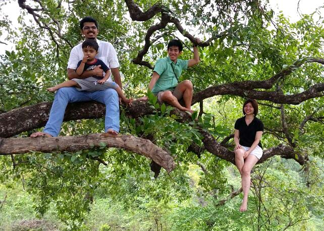Visitors revel in the nature at Purushwadi.