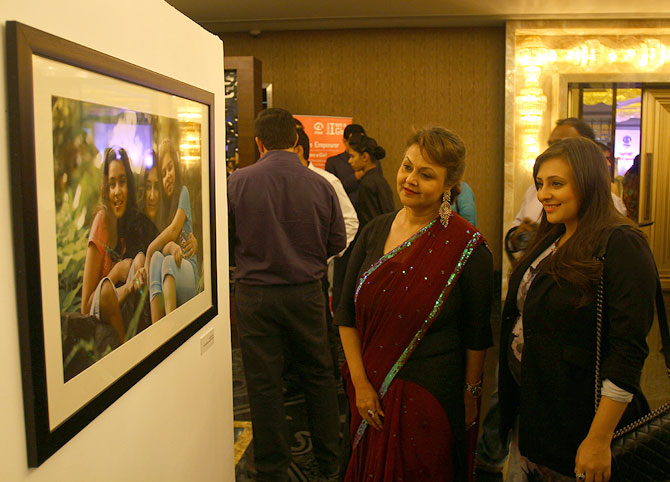 Avantika Malik with her mother Vandana at the launch of Meri Beti Meri Shakti.
