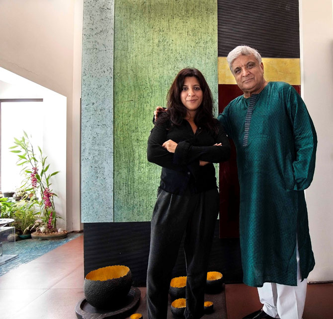 Zoya and Javed Akhtar in Meri Beti Meri Shakti