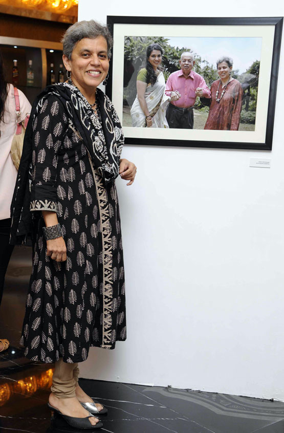 Artist Brinda Miller at the launch of Meri Beti Meri Shakti.