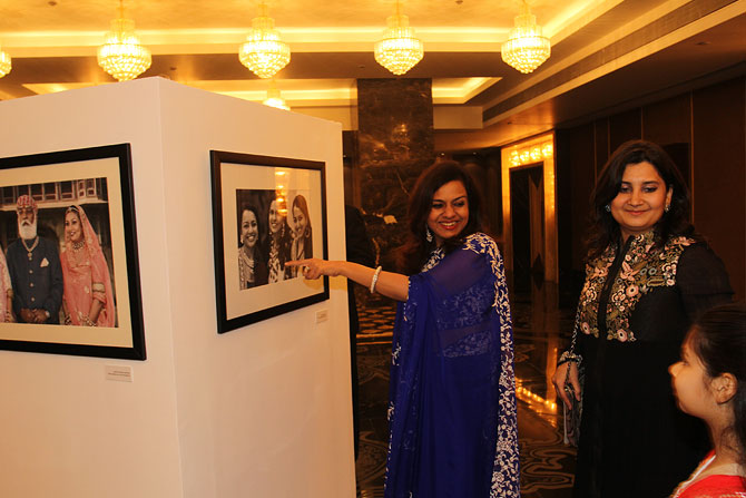 Sangita Jindal and Gayatri Ruia at the launch of Meri Beti Meri Shakti.