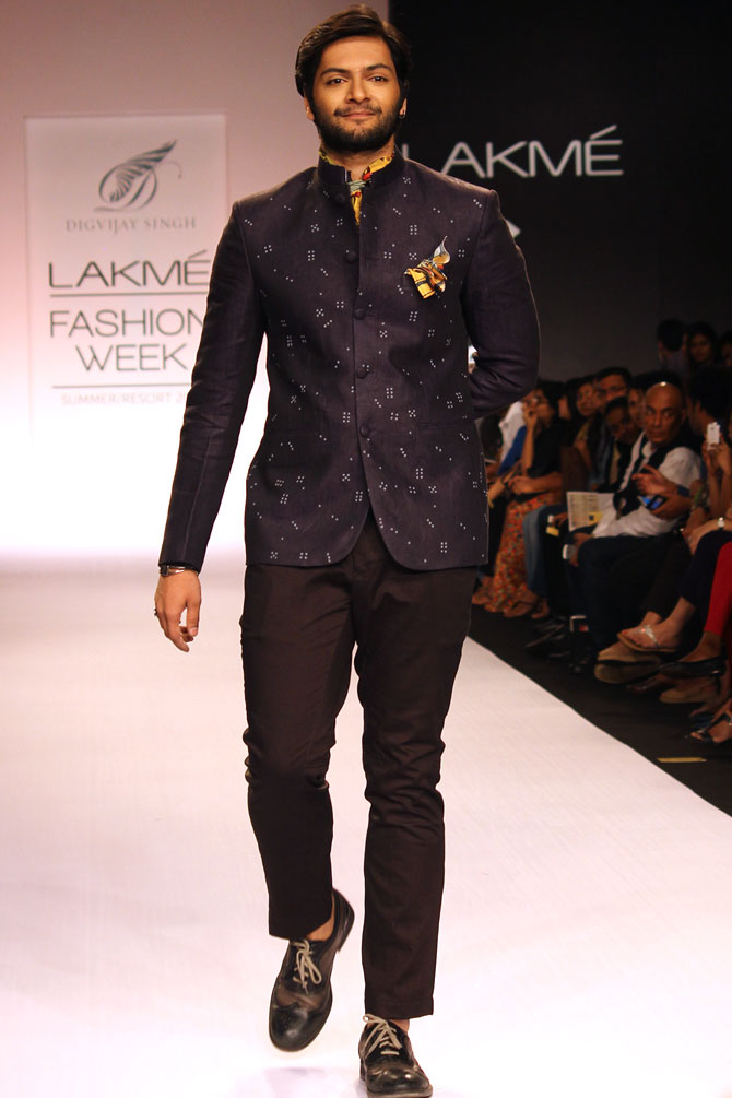Ali Fazal walks the ramp for Digvijay Singh.