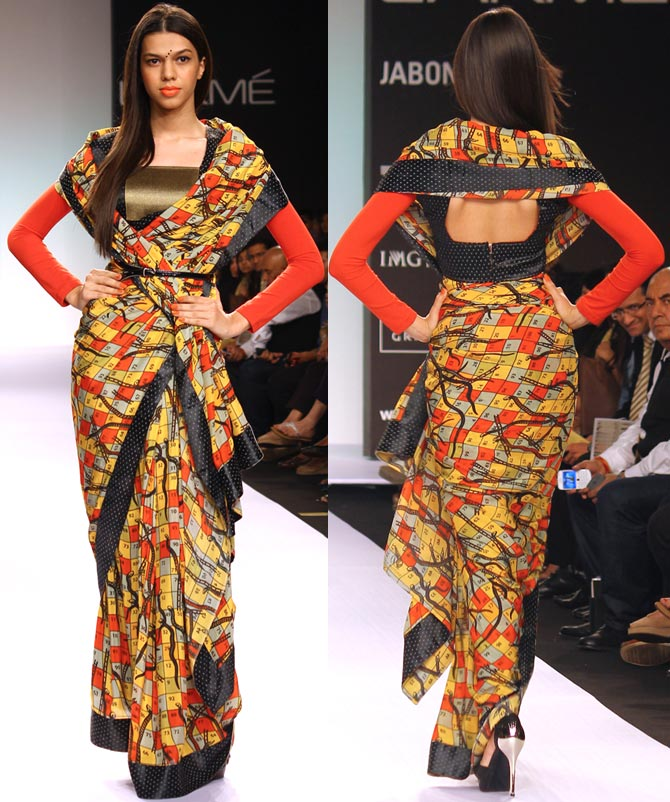 Model Anita Kumar in a Digvijay Singh creation.