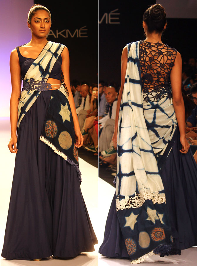 Models showcase Divya Sheth's creations