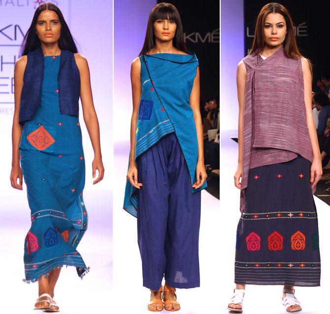 Models in Vaishali Shadangule's creations