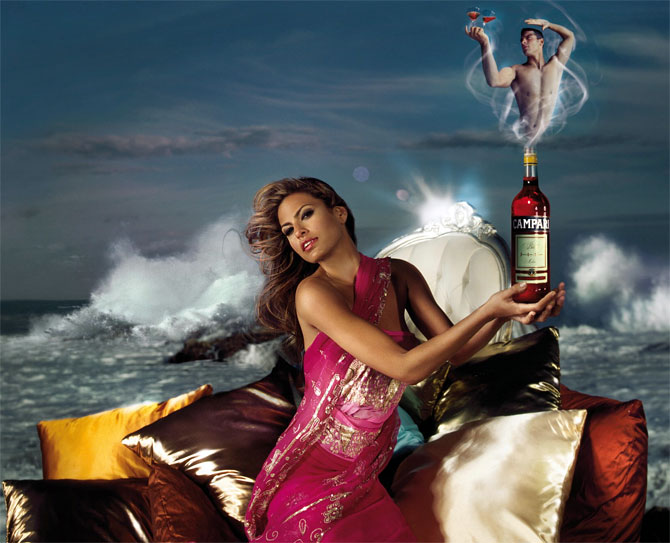 Eva Mendes in a Campari ad