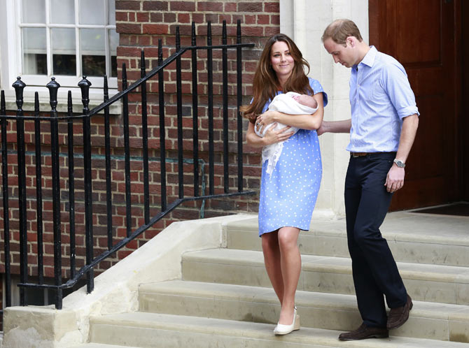 Kate and William introduce baby George to the world.