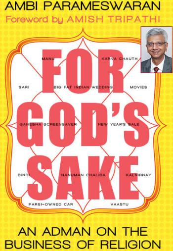Book cover of For God's Sake; Inset: Ambi Parameswaran