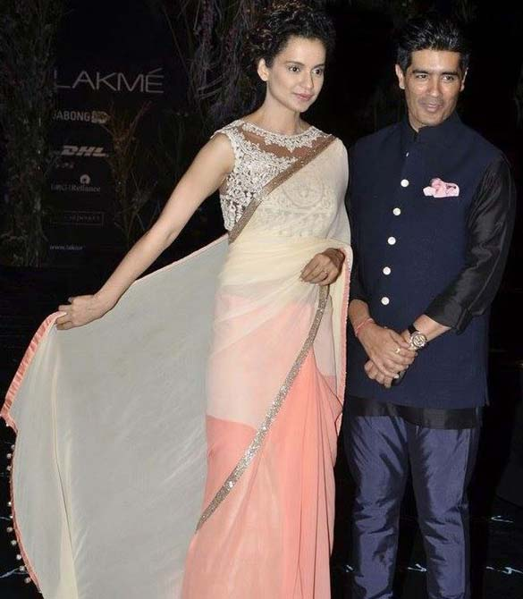 Kangna Ranaut with Manish Malhotra