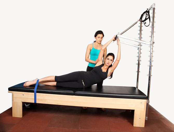 Actress Katrina Kaif works out.