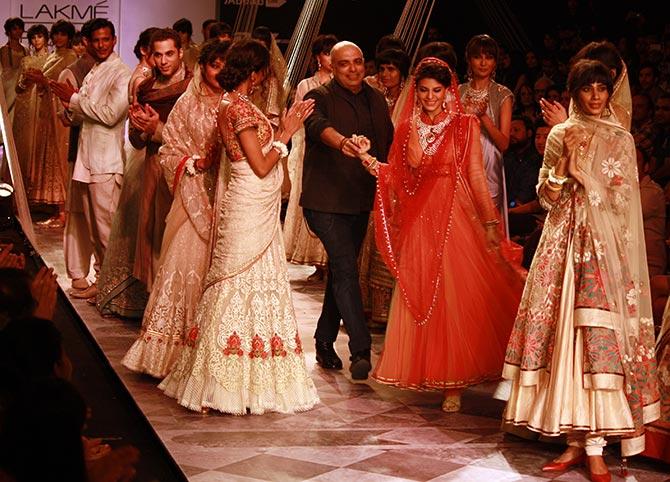 Tarun Tahiliani takes to the ramp with his showstopper Jacqueline Fernandez.