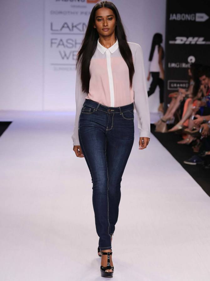 A model in a Dorothy Perkins creation