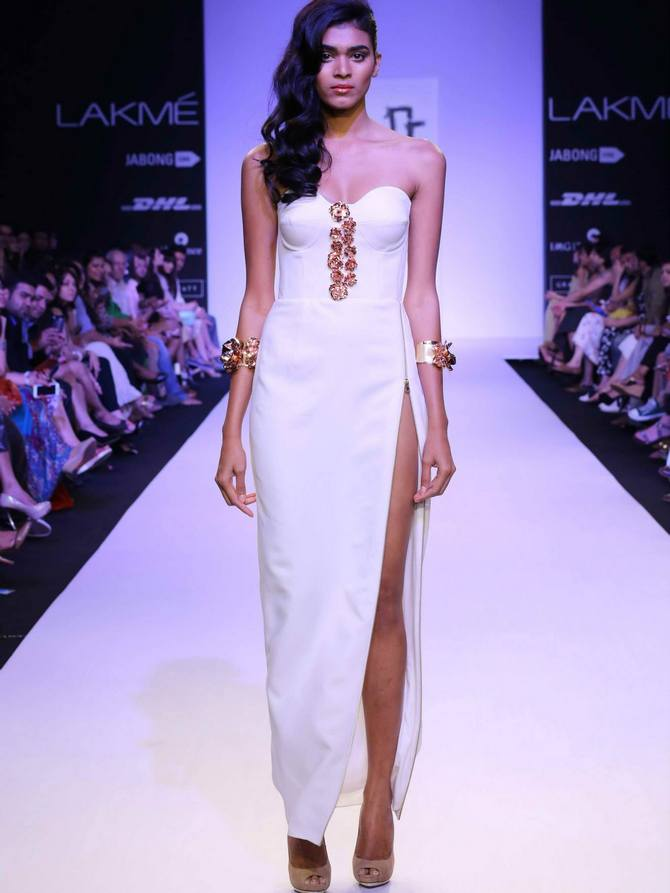 Radhika Nair in a Nikhil Thampi creation