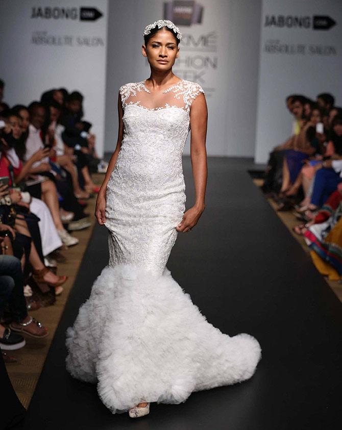 Carol Gracias in a Karleo Fashion creation
