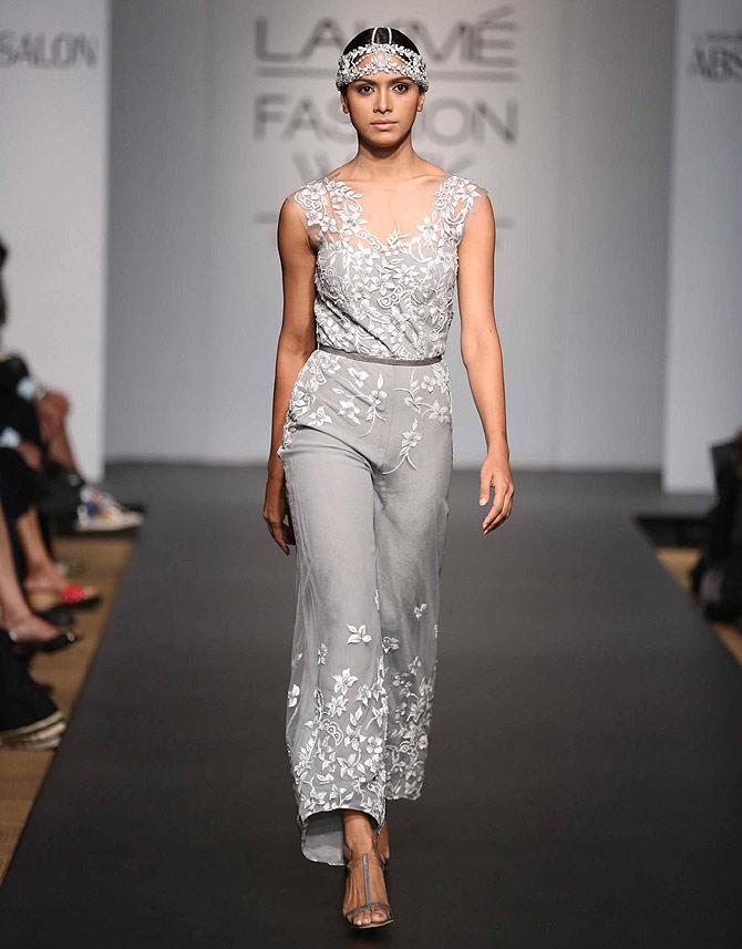 A model in a Karleo Fashion creation