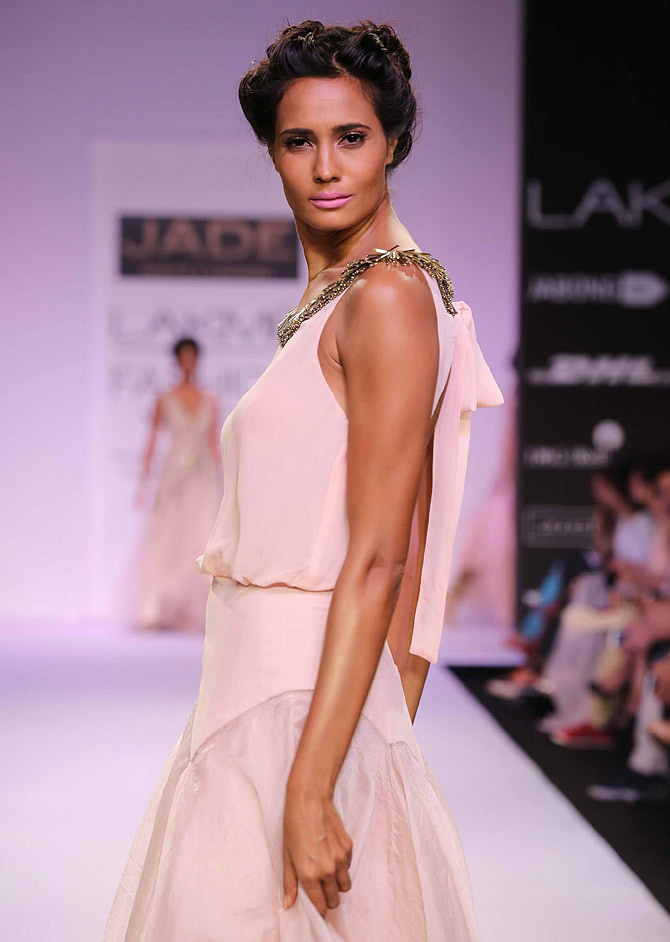A model in a Monica and Karishma creation