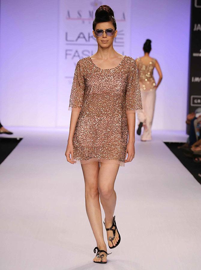 Sucheta Sharma in an Asmita Marwa creation