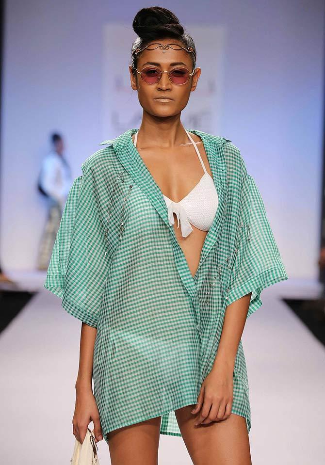 Surelee Joseph in an Asmita Marwa creation