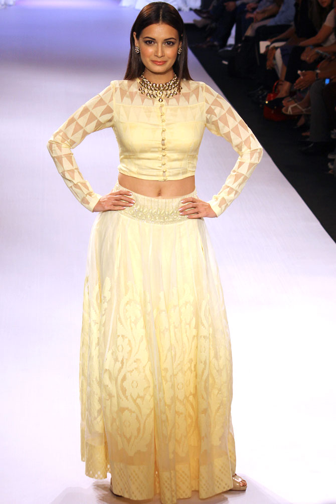 Dia Mirza was the showstopper for Anita Dongre