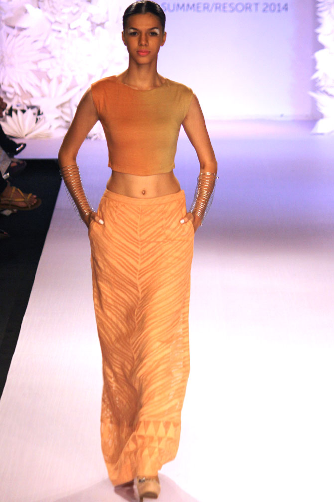 A model in a Anita Dongre creation