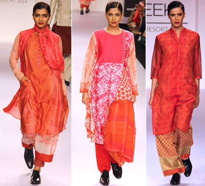 Models in a Krishna Mehta creation