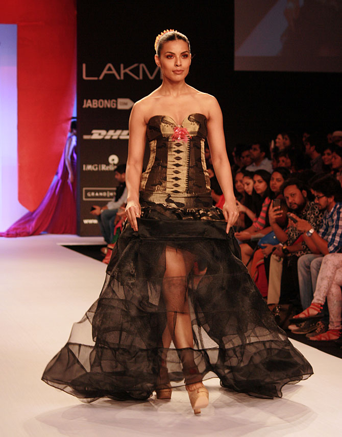 Deepti Gujral in a Swapnil Shinde creation
