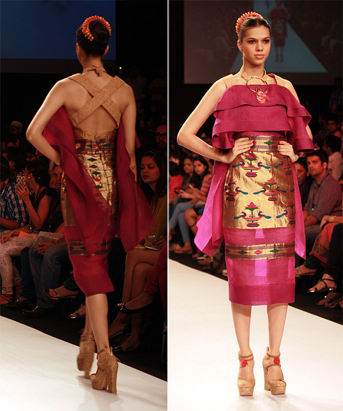 A model in a Swapnil Shinde creation