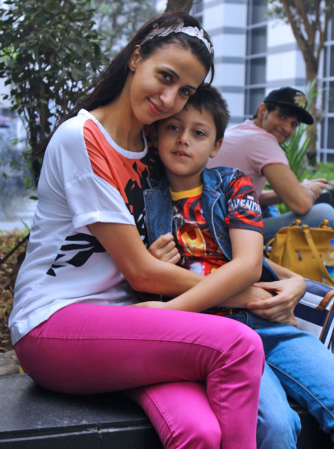 Alesia Raut with her son Mark