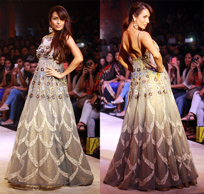 Malaika Arora Khan in Anju Modi creations