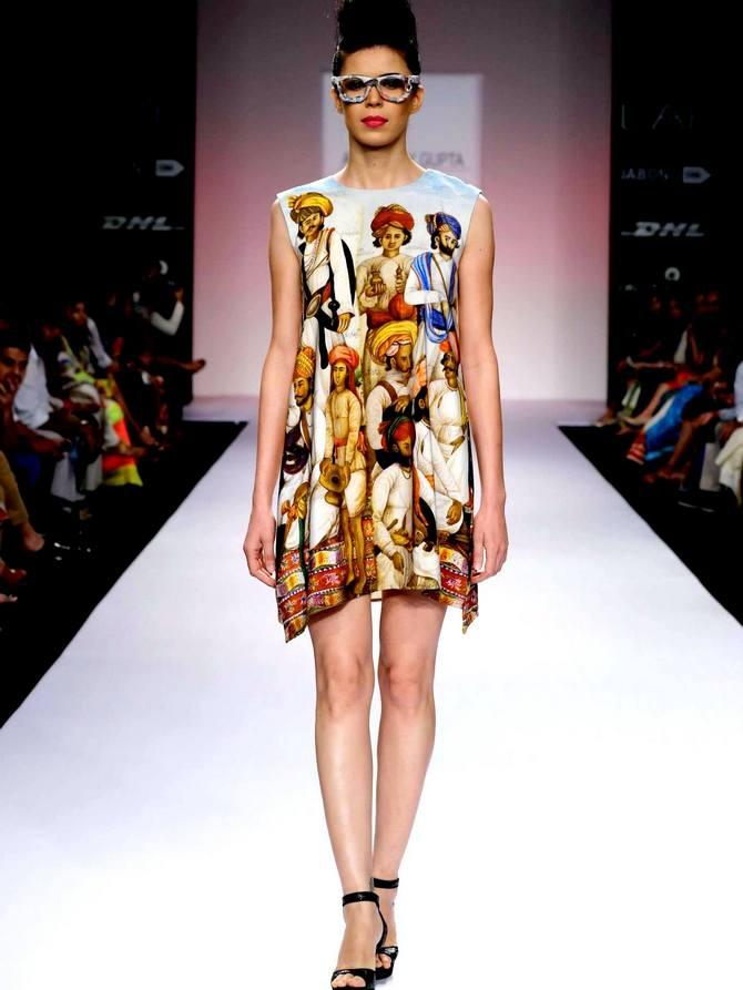 Sucheta Sharma in an Aarti Vijay Gupta creation
