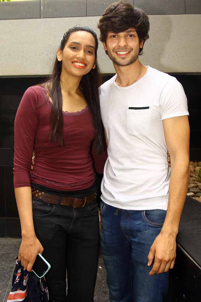 Model Ninja Singh (left) and Krishna Chaturvedi